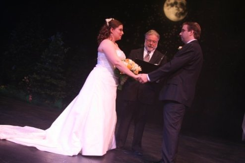 An On-Stage Theatre Wedding