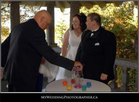Unity Sand ceremony. Courtesy Renee Pellerine