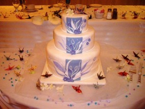 The B&G made 1000 origami cranes - even the cake topper!