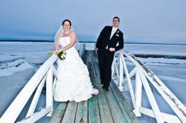 A Winter Wedding at Brtiannia Yacht Club Courtesy www.bouzane.ca