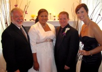 Home wedding for friends of wedding planner Cristie Vito