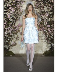 Blue Organza with Lily-of-the-Valley Embroidery by Oscar de la Renta