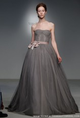 Charcoal Gray Dress by Vera Wang