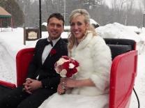 Newly married. Photo by Alan Viau