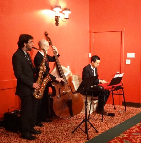 A live jazz trio provided ceremony music. Photo by Alan Viau