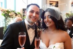 Finally married. Photo by Alan Viau