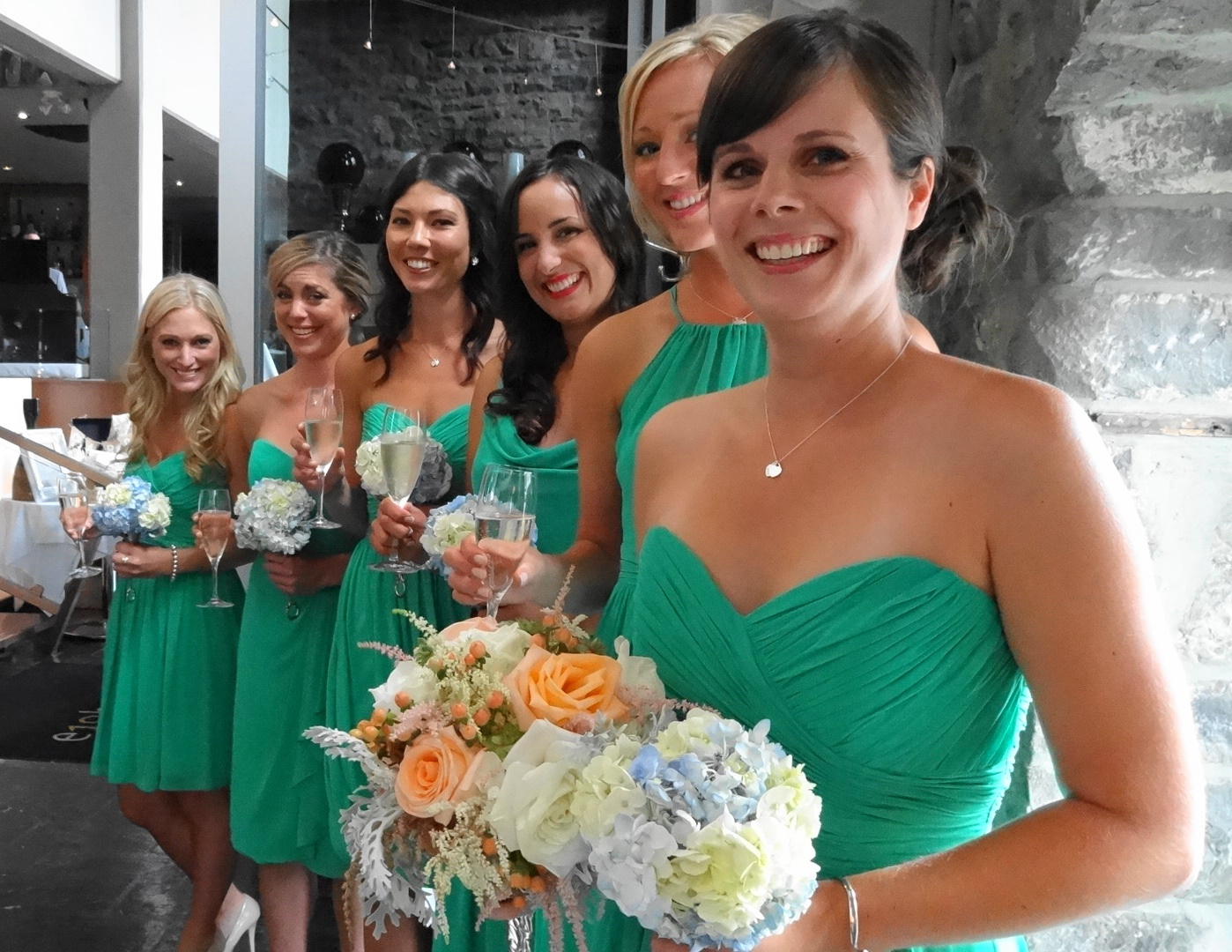 Bridesmaids dresses of 2013 ottawa wedding journal different color same style ombrellifo Images