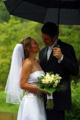 rainy wedding 1
