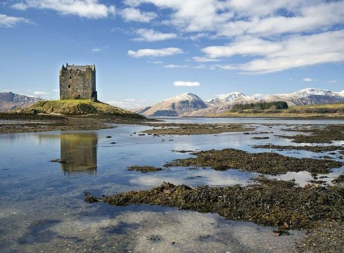 Castle Stalker; one of the most photographed castles in Scotland just 5 minutes from the Airds Hotel & Restaurant