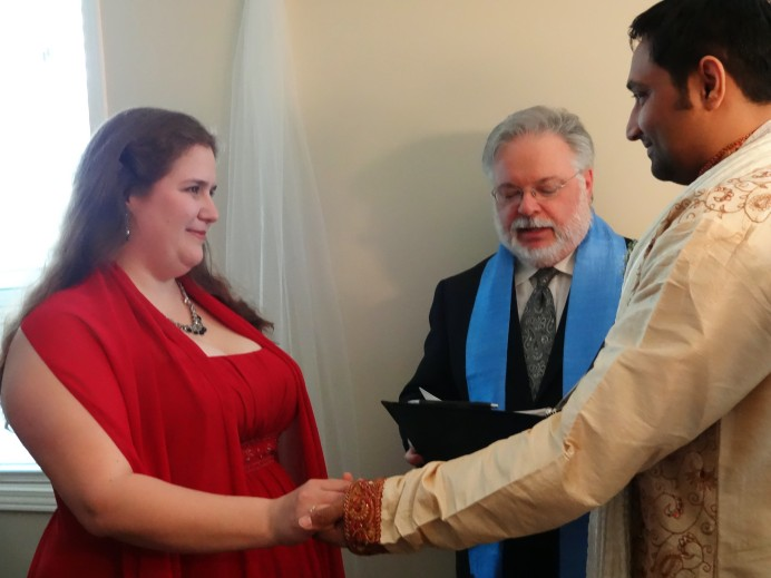Shona and Bharath's secret wedding