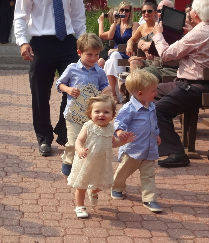 Kids in a the wedding