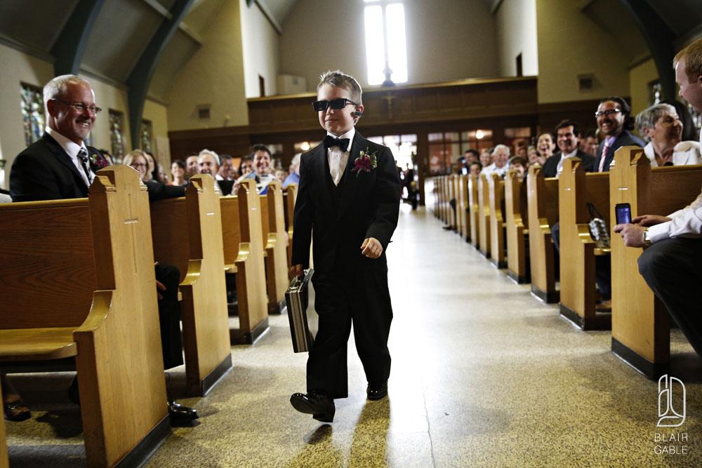 Wedding Trend Ringbearer Head of Ring Security ottawa wedding