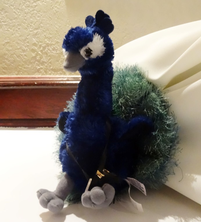 Stuffed toy peacock