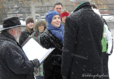 Amy and Andrew married on the Rideau Canal for Valentine's Day