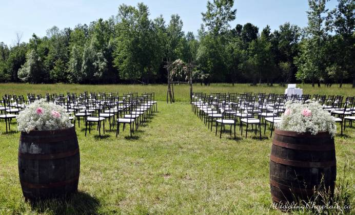Ceremony site in a field