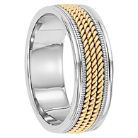gold chord ring