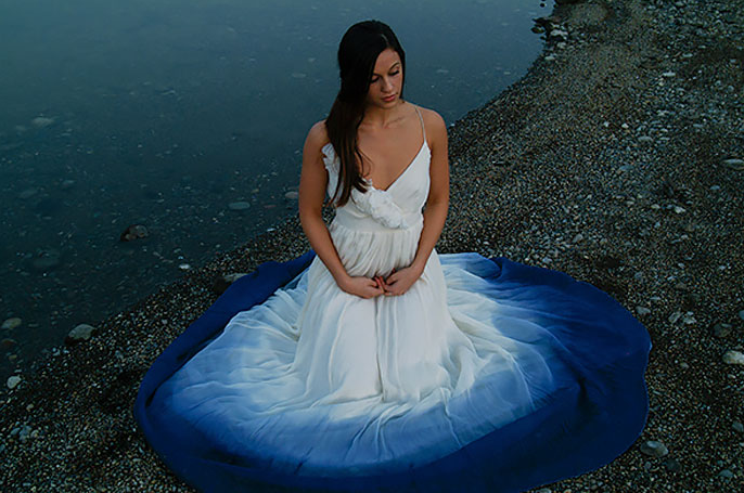 Would You Wear A Dip-Dyed Wedding Dress?